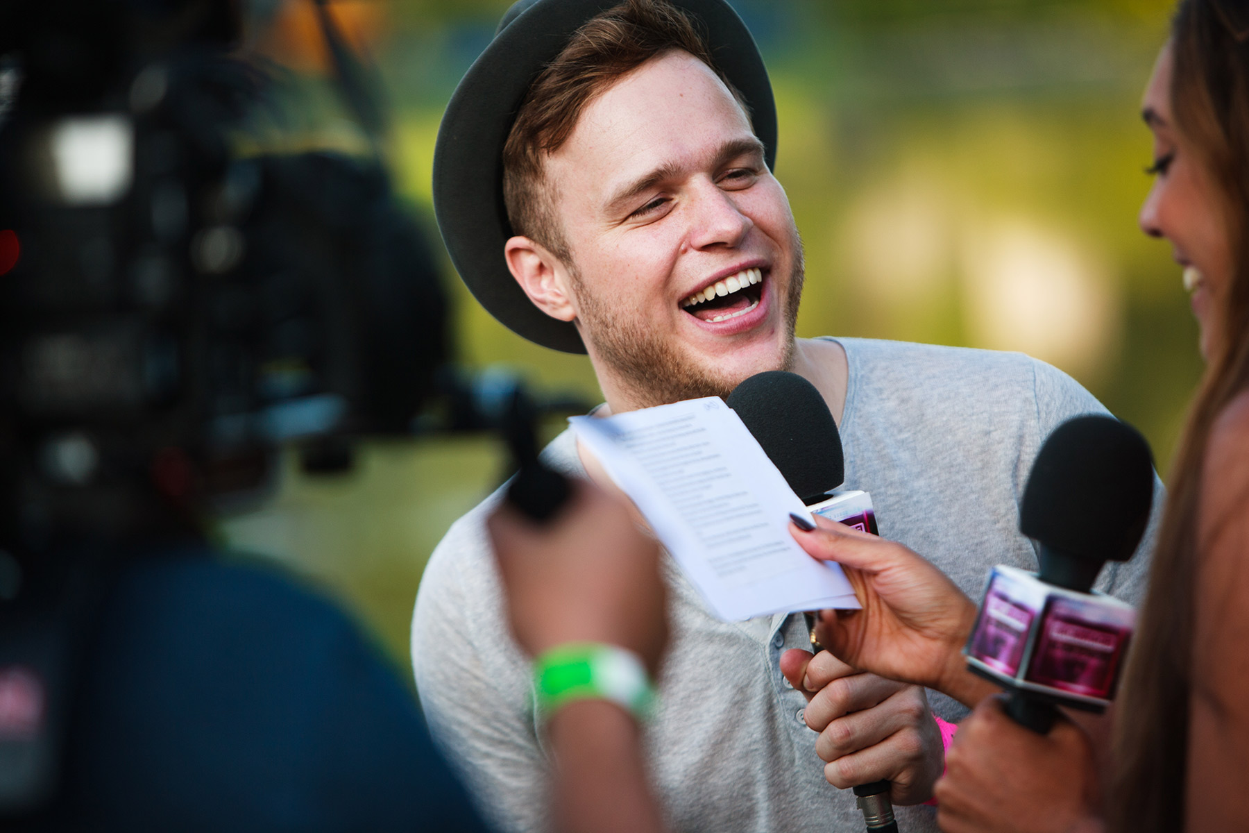 Oli Murs in interview for Channel 4's Box TV